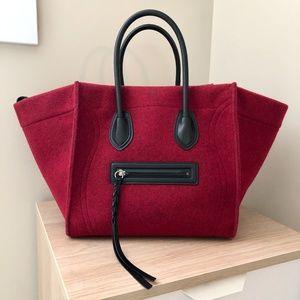 NWOT 🌹 RUNWAY Celine Red Felt Phantom Luggage 🌹